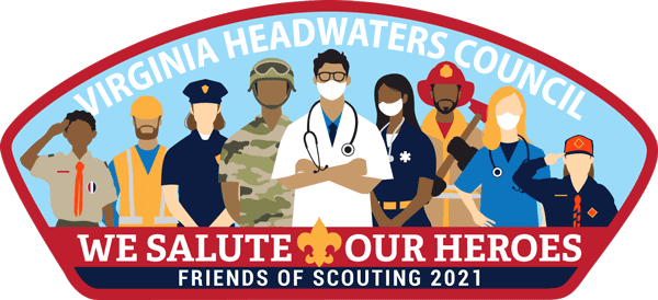 The Virginia Headwaters Council 2020 Friends of Scouting CSP Patch Design